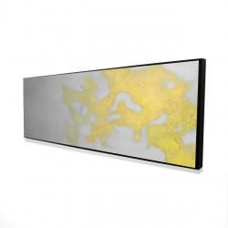 Framed 16 x 48 - 3D - Gold stains