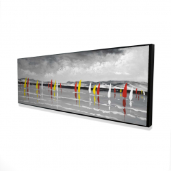 Framed 16 x 48 - 3D - Sailing on the lake