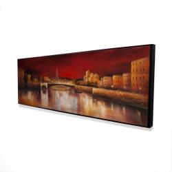 Framed 16 x 48 - 3D - Paris by red dawn