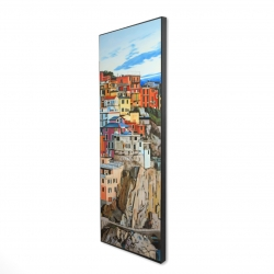 Framed 16 x 48 - 3D - View of manarola in italy