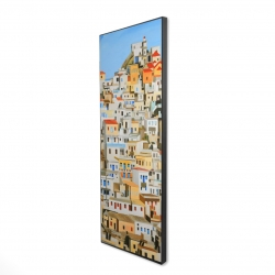 Framed 16 x 48 - 3D - Small houses in greece