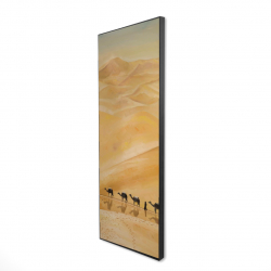 Framed 16 x 48 - 3D - Walking in the desert