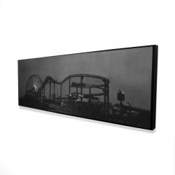 Framed 16 x 48 - 3D - Amusement park