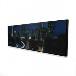 Framed 16 x 48 - 3D - Atlanta at night