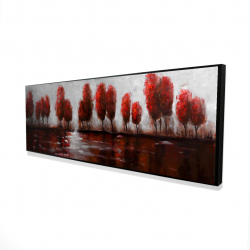 Framed 16 x 48 - 3D - Red trees
