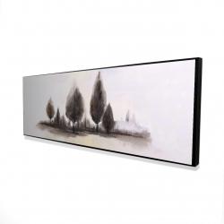 Framed 16 x 48 - 3D - Landscape of trees