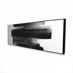 Framed 16 x 48 - 3D - Watercolor abstract stripes