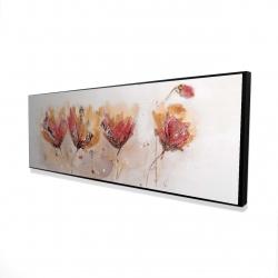 Framed 16 x 48 - 3D - Four little flowers