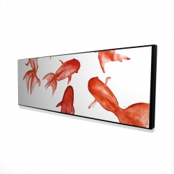 Framed 16 x 48 - 3D - Red fishes