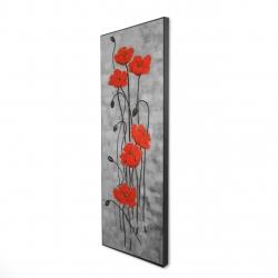 Framed 16 x 48 - 3D - Long stem flowers