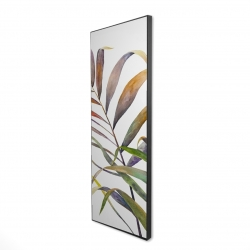 Framed 16 x 48 - 3D - Watercolor tropical palm leaves