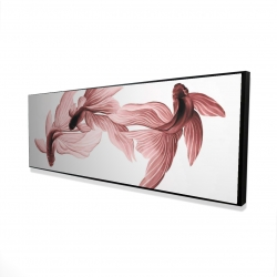 Framed 16 x 48 - 3D - Red betta fish