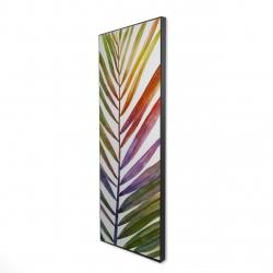 Encadré 16 x 48 - 3D - Feuille de palmier tropical