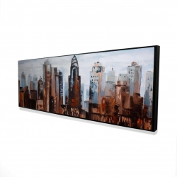 Framed 16 x 48 - 3D - Sullen day in the city