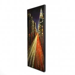Framed 16 x 48 - 3D - Lively city