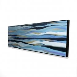 Framed 16 x 48 - 3D - Blue sweep