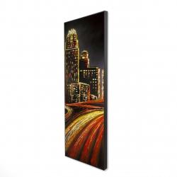 Framed 16 x 48 - 3D - Lively city by night