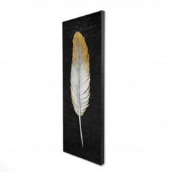 Framed 20 x 60 - 3D - Golden feather