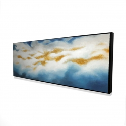 Framed 16 x 48 - 3D - Abstract clouds