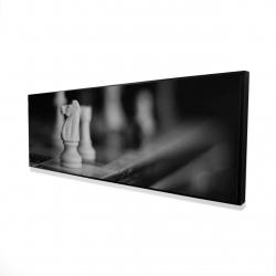 Framed 16 x 48 - 3D - Monochrome chess games
