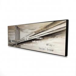 Framed 16 x 48 - 3D - City brige