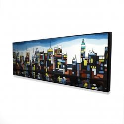 Framed 16 x 48 - 3D - Colorful skyline