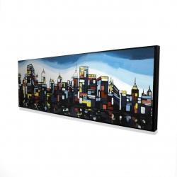 Framed 16 x 48 - 3D - Colorful city