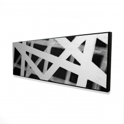 Framed 16 x 48 - 3D - Geometric stripes