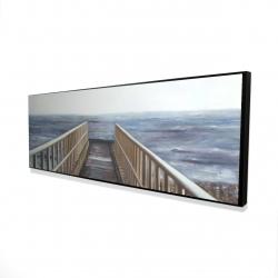 Framed 16 x 48 - 3D - Relaxing beach