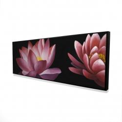 Framed 16 x 48 - 3D - Lotus flower pattern