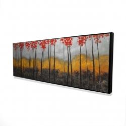 Framed 16 x 48 - 3D - Abstract autumn trees