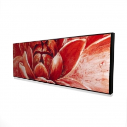 Framed 16 x 48 - 3D - Red chrysanthemum