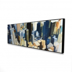Framed 16 x 48 - 3D - Manhattan view of the empire state building