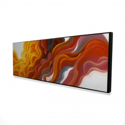 Framed 16 x 48 - 3D - Colorful smoke