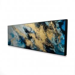 Framed 16 x 48 - 3D - Blue marble