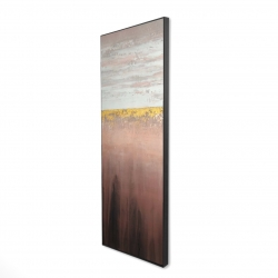 Framed 16 x 48 - 3D - Golden pink