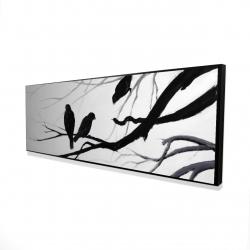 Framed 16 x 48 - 3D - Silhouette of birds