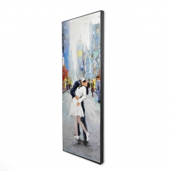 Framed 16 x 48 - 3D - Kiss of times square