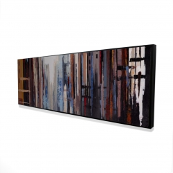 Framed 16 x 48 - 3D - Abstract buildings