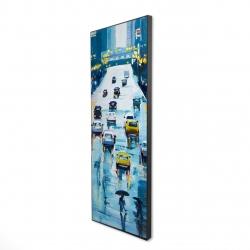 Framed 16 x 48 - 3D - Rainy streets of new york