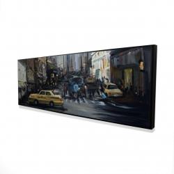 Framed 16 x 48 - 3D - In the city