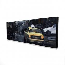 Framed 16 x 48 - 3D - New york in the dark