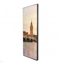 Framed 16 x 48 - 3D - Sunset on the big ben
