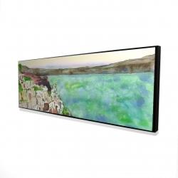 Framed 16 x 48 - 3D - Landscape of crete