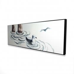 Framed 16 x 48 - 3D - Seagull