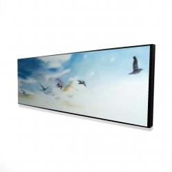 Encadré 16 x 48 - 3D - Oiseaux dans le ciel