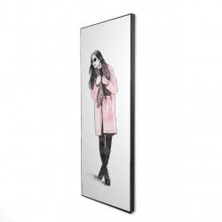 Framed 16 x 48 - 3D - Woman spring look