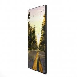 Framed 16 x 48 - 3D - Long road