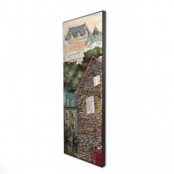 Framed 16 x 48 - 3D - Château frontenac in the petit champlain