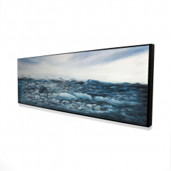 Framed 16 x 48 - 3D - Glaciers in iceland